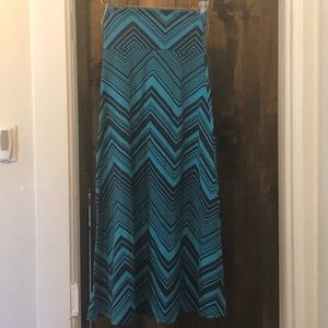 Mossimo Chevron Maxi Skirt